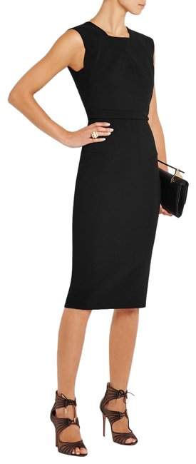 Item - Black Dendrum Wool-blend Mid-length Formal Dress Size 10 (M)