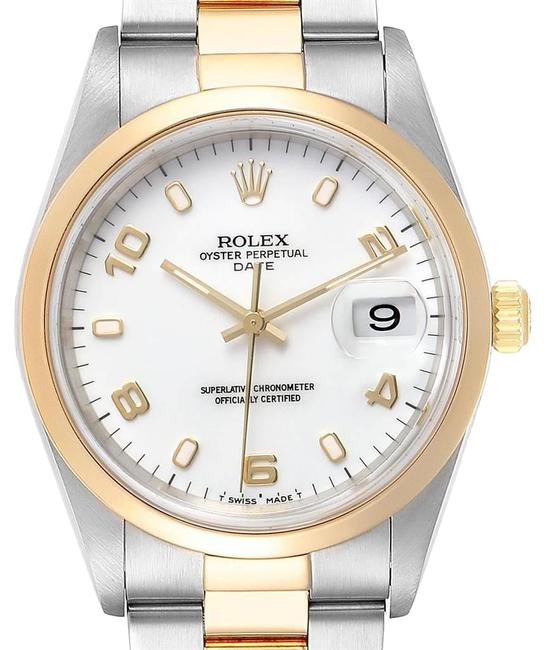 Rolex White Box Steel Yellow Dial Mens 15203 Watch Rolex White Box Steel Yellow Dial Mens 15203 Watch Image 1