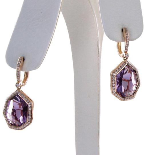 Preload https://img-static.tradesy.com/item/27002398/purple-tuscany-045cts-diamonds-110cts-amethyst-18k-rose-gold-earrings-0-1-540-540.jpg