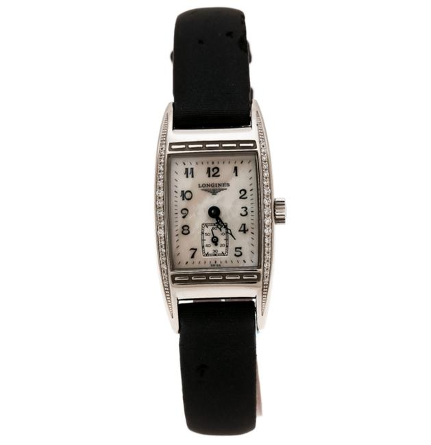 Longines Black Mother Of Pearl Stainless Steel Bellearti L2.194.0 Wristwatch 19mm Watch Longines Black Mother Of Pearl Stainless Steel Bellearti L2.194.0 Wristwatch 19mm Watch Image 1