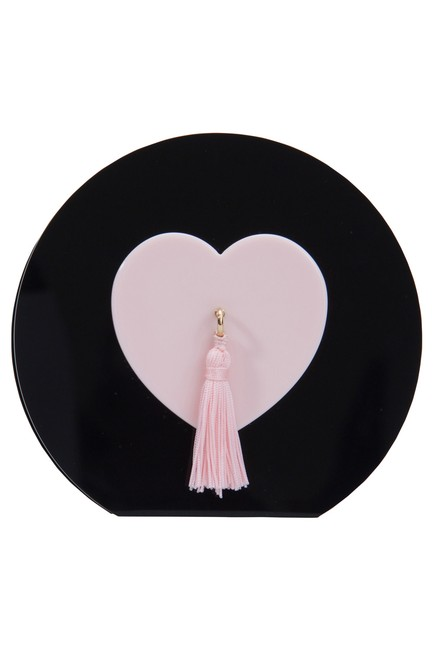 Charlotte Olympia Black/Pink Such A Tease Tassel Black Perspex Clutch Charlotte Olympia Black/Pink Such A Tease Tassel Black Perspex Clutch Image 1