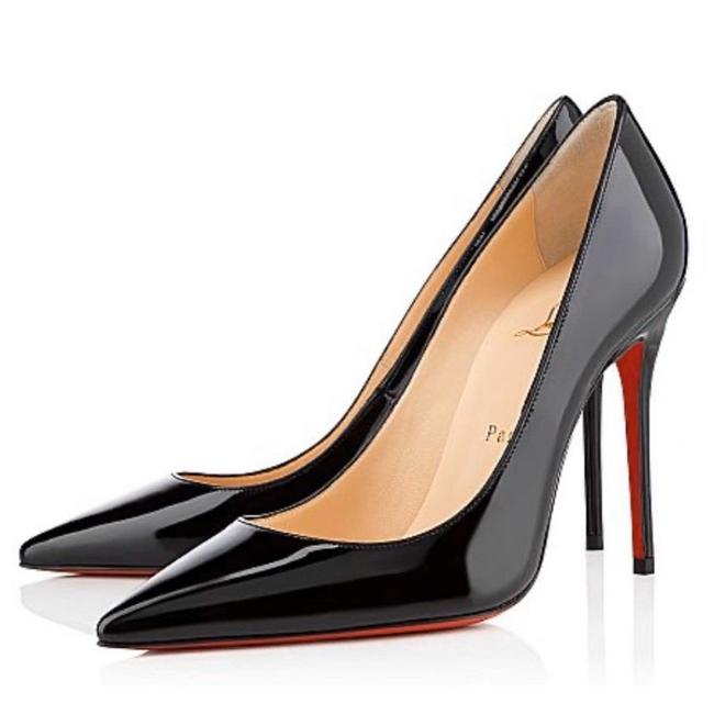Christian Louboutin Black Kate 100 Patent Leather Heels Pumps Size EU 36 (Approx. US 6) Regular (M, B) Christian Louboutin Black Kate 100 Patent Leather Heels Pumps Size EU 36 (Approx. US 6) Regular (M, B) Image 1