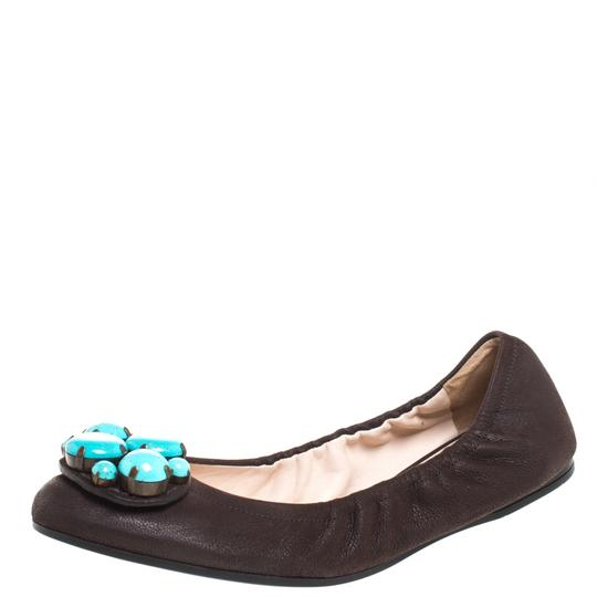 Preload https://img-static.tradesy.com/item/27002551/prada-brown-leather-turquoise-stone-embellished-scrunch-ballet-flats-size-us-65-regular-m-b-0-0-540-540.jpg