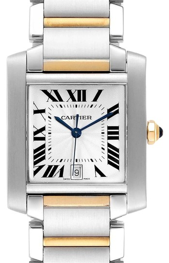 Preload https://img-static.tradesy.com/item/27002621/cartier-silver-tank-francaise-steel-yellow-gold-large-unisex-w51005q4-watch-0-1-540-540.jpg