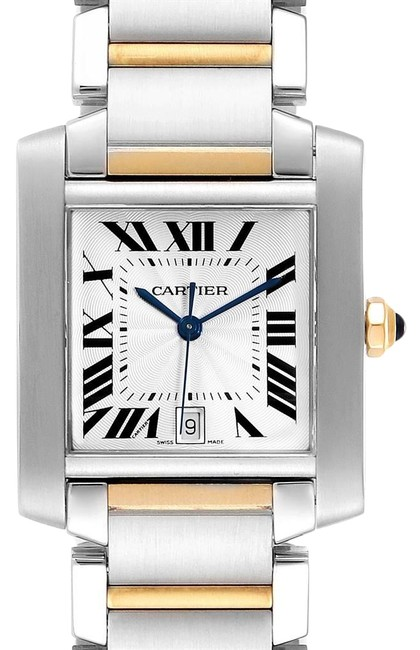 Cartier Silver Tank Francaise Steel Yellow Gold Large Unisex W51005q4 Watch Cartier Silver Tank Francaise Steel Yellow Gold Large Unisex W51005q4 Watch Image 1