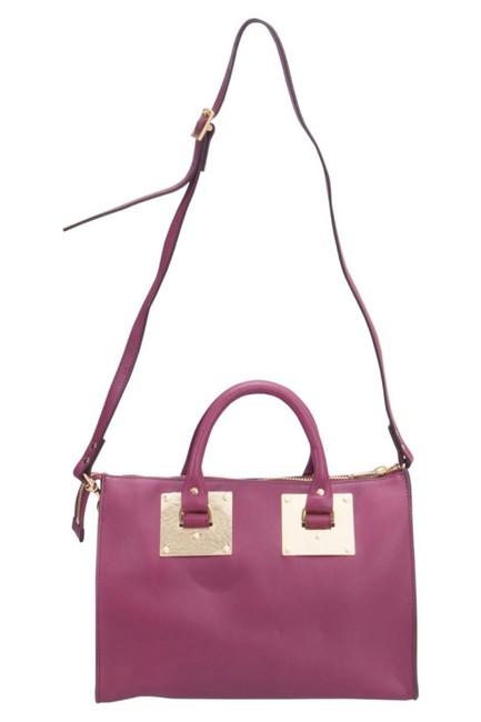 Sophie Hulme Fuchsia Zip Bowler Pink Leather Satchel Sophie Hulme Fuchsia Zip Bowler Pink Leather Satchel Image 1