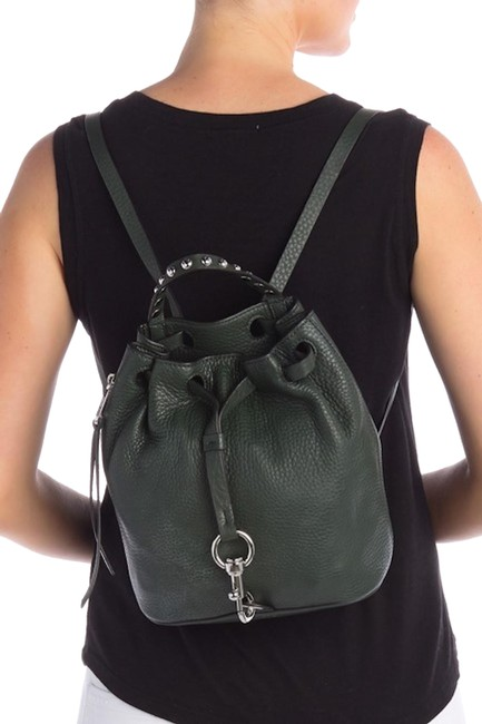 Item - Blythe Small Pebbled Pine Leather Backpack