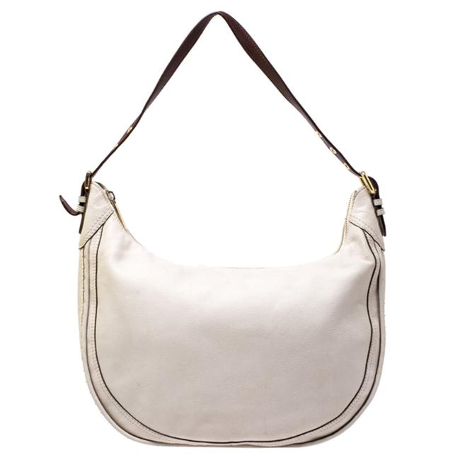 MICHAEL Michael Kors Beige/Brown Beige Leather Hobo Bag MICHAEL Michael Kors Beige/Brown Beige Leather Hobo Bag Image 1