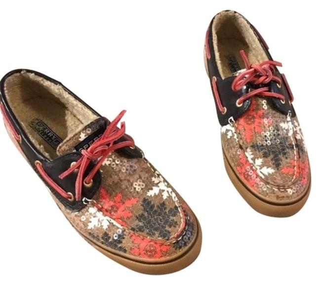 Sperry Pink Brown Top Sider Flats Size US 8 Regular (M, B) Sperry Pink Brown Top Sider Flats Size US 8 Regular (M, B) Image 1