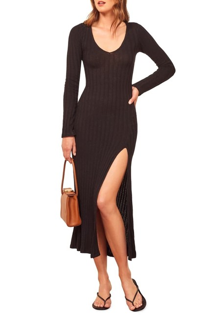 Item - Black Stretch To Fit Long Casual Maxi Dress Size 12 (L)