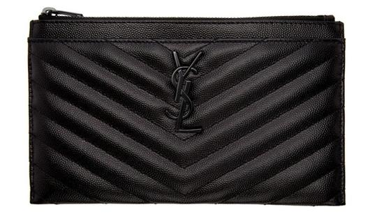 Preload https://img-static.tradesy.com/item/27002956/saint-laurent-monogram-quilted-wristlet-pouch-black-leather-clutch-0-0-540-540.jpg