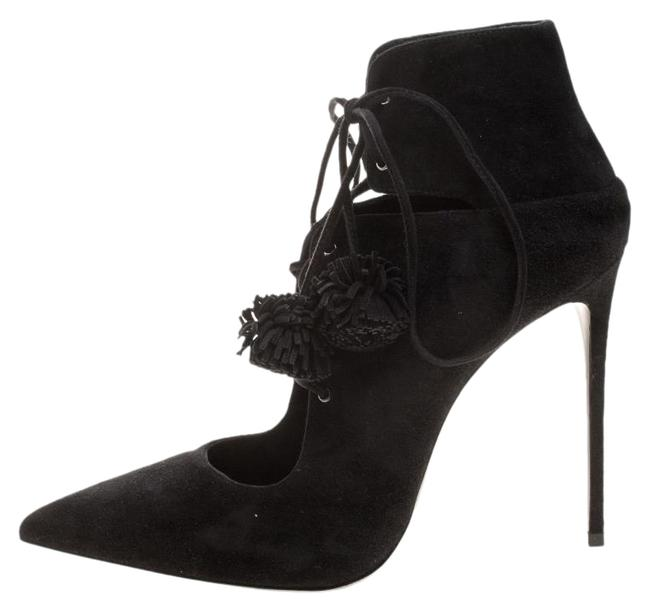 Le Silla Black Suede Lace Up Pointed Toe Ankle Boots/Booties Size EU 39.5 (Approx. US 9.5) Regular (M, B) Le Silla Black Suede Lace Up Pointed Toe Ankle Boots/Booties Size EU 39.5 (Approx. US 9.5) Regular (M, B) Image 1