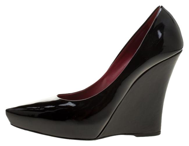 Le Silla Black Patent Leather Wedge Pointed Pumps Size EU 39.5 (Approx. US 9.5) Regular (M, B) Le Silla Black Patent Leather Wedge Pointed Pumps Size EU 39.5 (Approx. US 9.5) Regular (M, B) Image 1