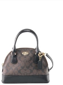 Coach Crossbody Leather Satchel in Brown / Black
