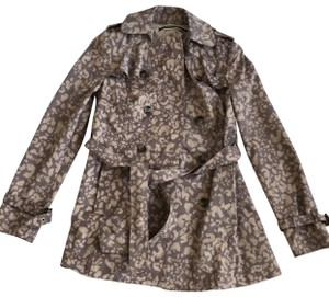 Daughters of the Liberation Leopard Trenchcoat Anthropologie Brown Jacket