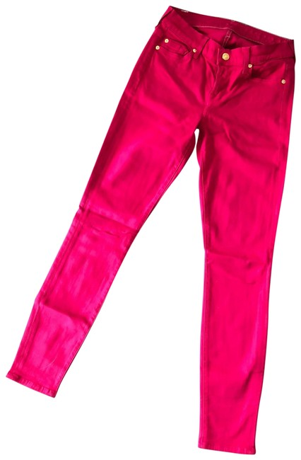 Item - Lipstick Red Ankle Skinny Jeans Size 2 (XS, 26)