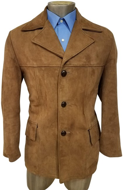 Item - Brown Vintage Costume Made Roger Mc Cluskey Monroe Ny Suede Jacket Size 20 (Plus 1x)