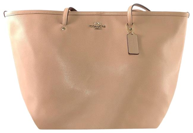 Item - Taxi Crossgrain Large Nude Leather Tote