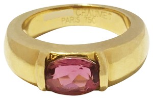 Chaumet Chaumet 18k Yellow Gold Ring with Pink Tourmaline