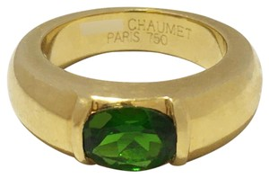 Chaumet Chaumet 18k Yellow Gold Ring with Green Tourmaline
