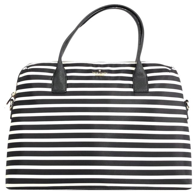 Item - Universal Slim Commuter Striped Black / Clotted Cream Nylon Laptop Bag