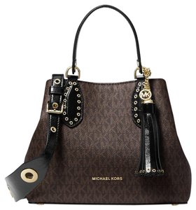 Michael Kors Leather Satchel in multicolor
