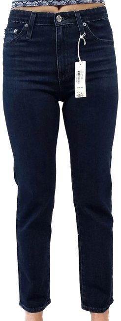 Item - Blue Dark Rinse Isabelle High-rise Straight Crop Capri/Cropped Jeans Size 24 (0, XS)