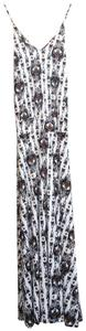White, Black and Brown Maxi Dress by Veronica M