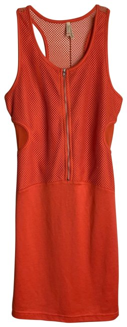 Item - Orange L Razor Back Mini Cotton Short Cocktail Dress Size 10 (M)