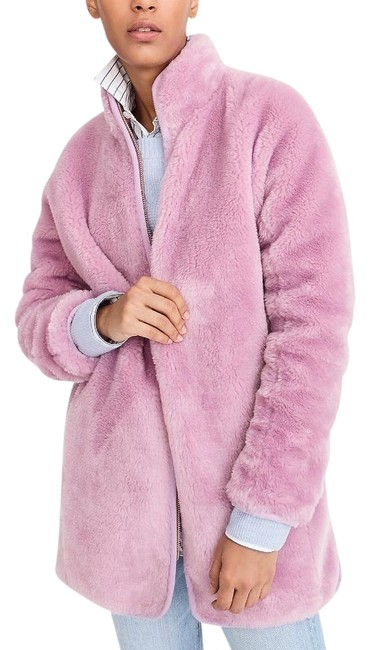 Item - Pink Plush Faux Coat Size 4 (S)