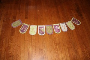 Green Purple Gold Thank You Banner Other