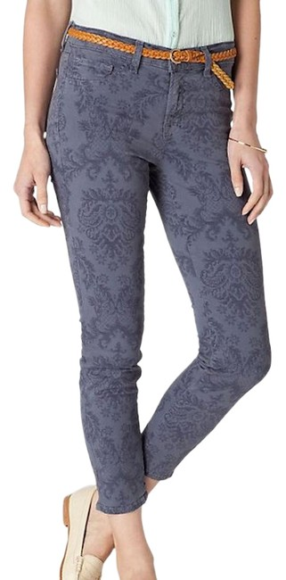 Item - Plum Grey Baroque Printed Skinnies Capri/Cropped Jeans Size 0 (XS, 25)