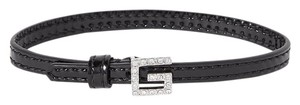 Gucci Patent-leather, silver-tone and crystal bracelet size M