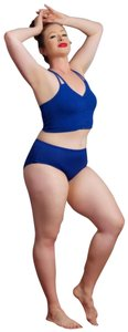 Bozzolo MD/LG Sport navy blue cotton cross crop top