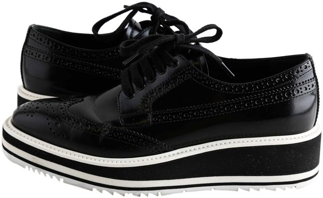 Item - Black Winged Oxford Platforms Size US 7.5 Regular (M, B)