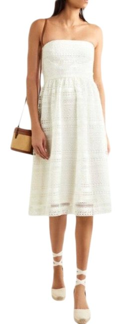 Item - Ivory Stanbury Crochet Lace Midi Mid-length Formal Dress Size 2 (XS)