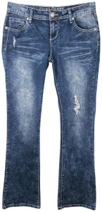 Almost Famous Clothing Acid Wash Embellished Boot Cut Jeans