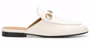 Gucci Princetown Loafer Mule Slide white Flats