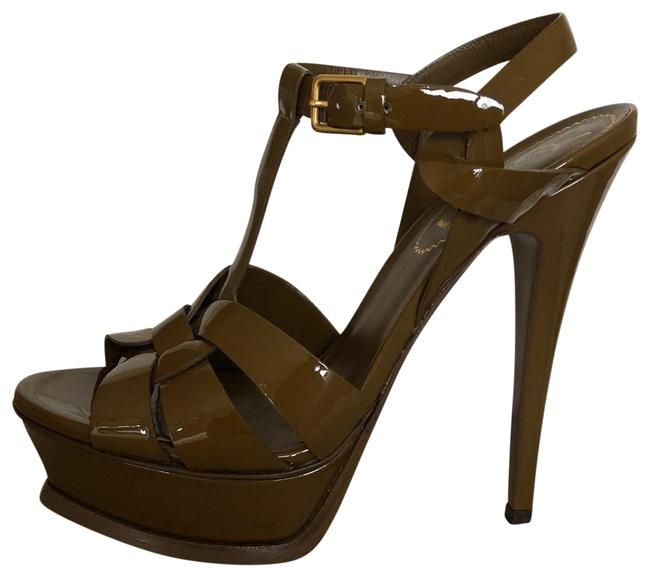 "Item - Olive Green Tribute Yves ""tribute"" Sandal Platforms Size US 6 Narrow (Aa, N)"