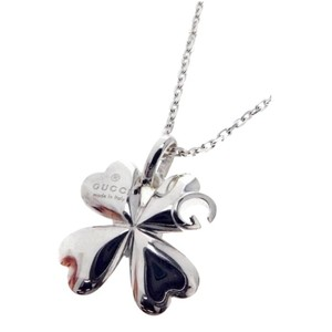"""Gucci GUCCI Sterling Silver Charlotte Clover """"G"""" Necklace*NWT"""