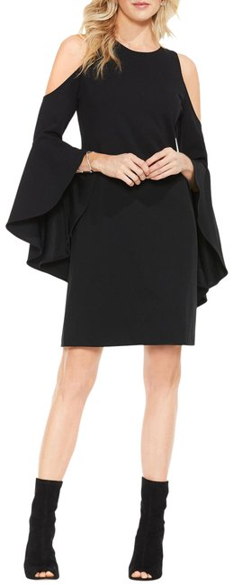 Item - Black Cold Shoulder Shift Short Cocktail Dress Size 14 (L)