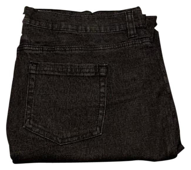 Item - Black Light Wash Comfort Classic 5 Pocket Ankle with Zippers Straight Leg Jeans Size 16 (XL, Plus 0x)