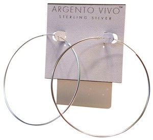 Argento Vivo NWT ARGENTO VIVO .925 STERLING SILVER HOOPS
