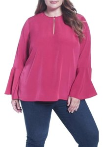 Melissa McCarthy Seven7 Top Red/Pink