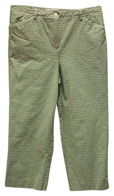 Item - Green and White Crop Capris Size 10 (M, 31)