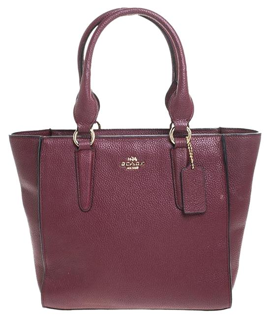 Item - Carryall Maroon Burgundy Leather Tote