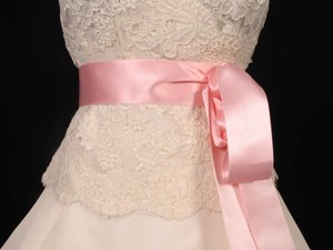 Light Pink Ribbon Sash 2
