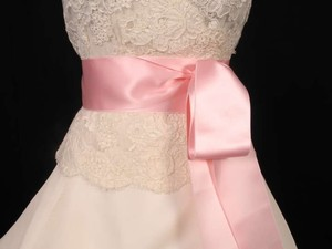 Light Pink Ribbon Sash 2 3/4