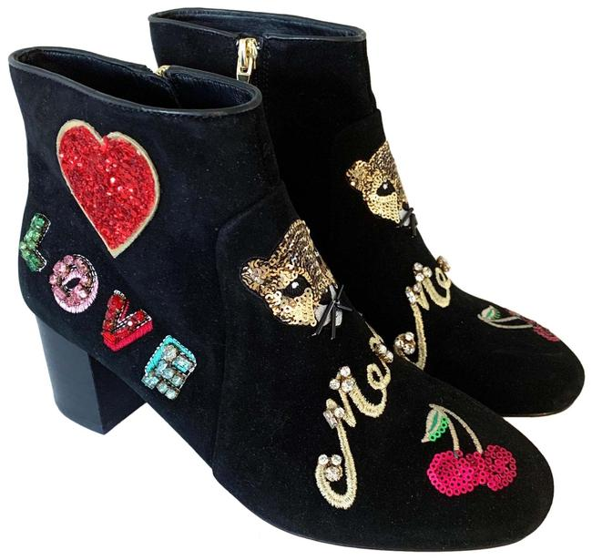 Item - Black Liverpool Meow Love Embellished Boots/Booties Size US 7.5 Regular (M, B)