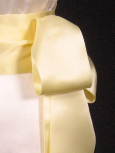 Buttercream Yellow Ribbon Sash 4